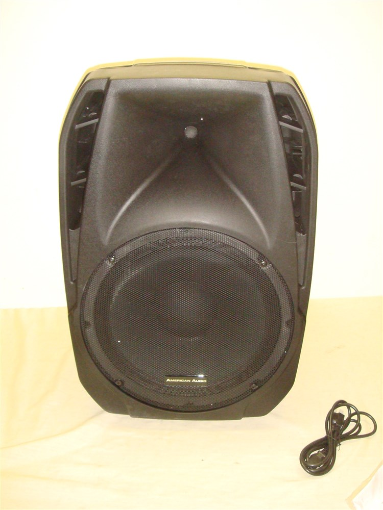 american audio els15 bt powered pa speaker with bluetooth mic and aux inputs ebay. Black Bedroom Furniture Sets. Home Design Ideas