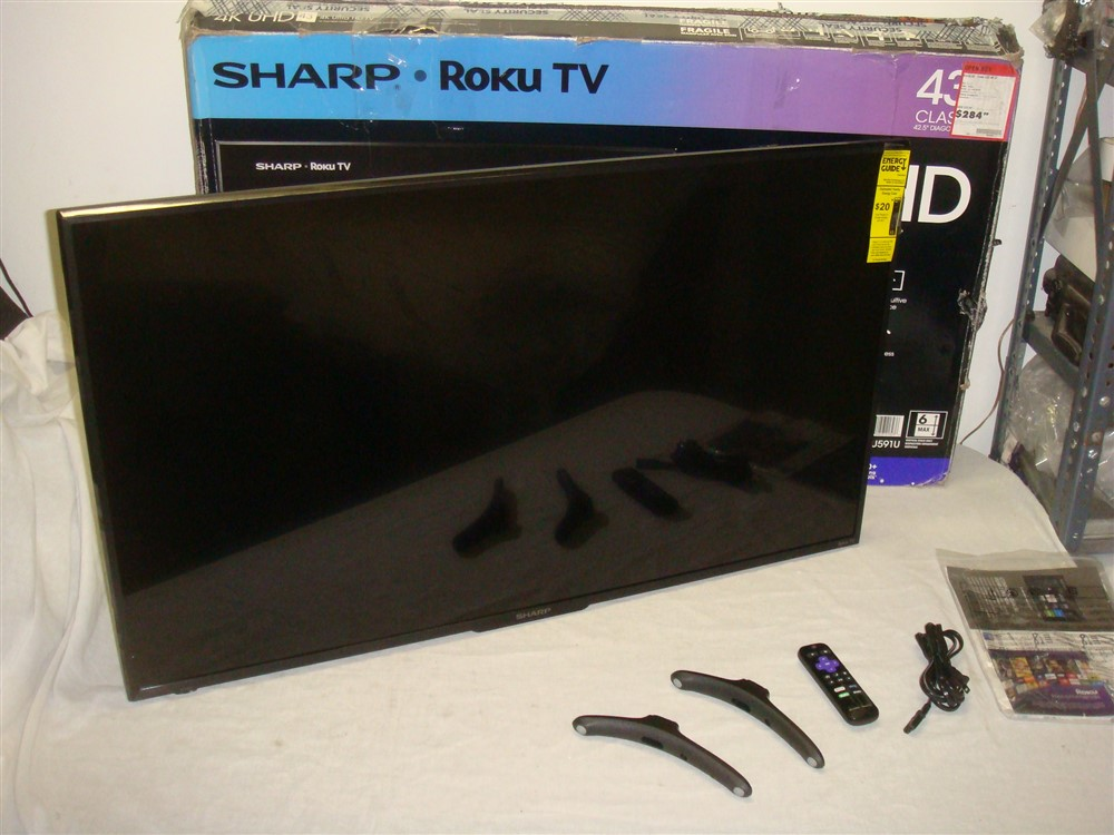 Details about SHARP LC-43LBU591U ROKU 43IN CLASS LED 2160P 4K SMART UHDTV