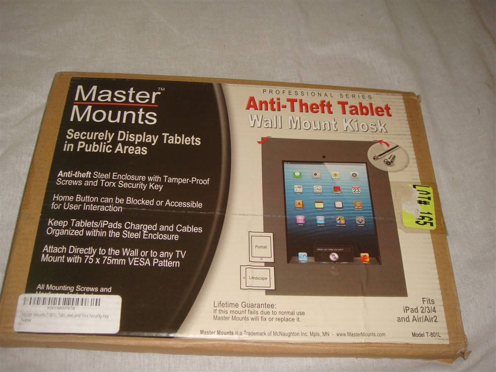 """Air Master Mounts T-802L Anti-Theft Tablet Coutertop Mount for iPad2,3,4 9.7/"""""""