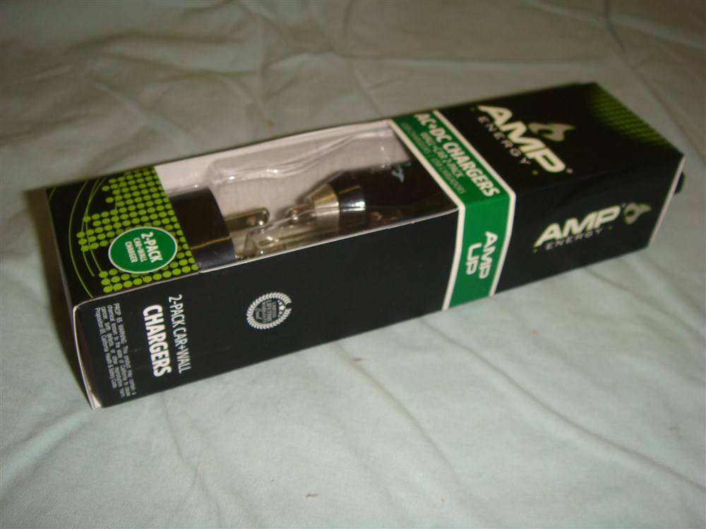 AMP ENERGY HOFFCO USB WALL AND CAR CHARGER COMBO PACK